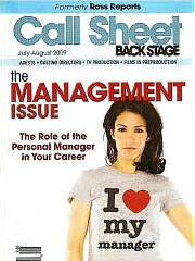 CALL SHEET BY BACK STAGE magazine subscription