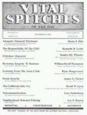 VITAL SPEECHES OF THE DAY magazine subscription